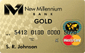 New Millennium Bank Secured Gold Visa� or MasterCard�